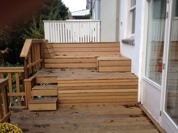 Studio ijsberg houten terras rotterdam for Trap buiten hout